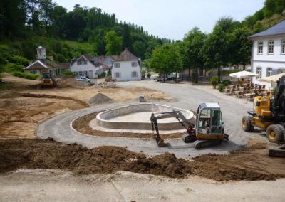 Fürstenlager Auerbach Umgestaltung Brunnen