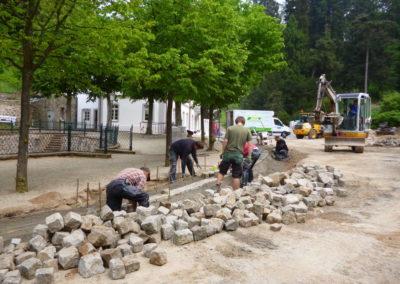 Fürstenlager Auerbach Regenrinne Bau